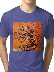 Old and Ancient Tree - Orange Tones  Tri-blend T-Shirt