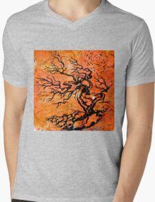 Old and Ancient Tree - Orange Tones  Mens V-Neck T-Shirt