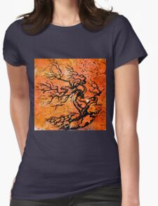 Old and Ancient Tree - Orange Tones  Womens Fitted T-Shirt