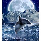 DOLPHIN &amp; MOON Fantasy Art Poster by Skye Ryan-Evans