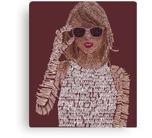 Red Taylor Swift Typography Canvas Print