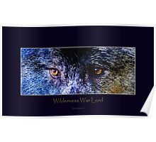 Grey Wolf Eyes III Art Poster Poster