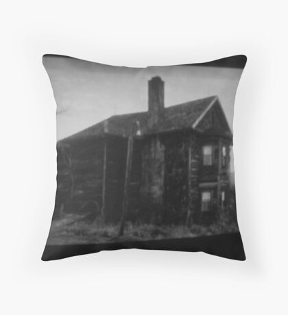 the house in the middle of nowhere. Throw Pillow