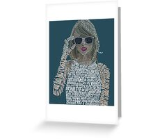 Blue Taylor Swift Typography Greeting Card