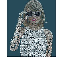 Blue Taylor Swift Typography Photographic Print
