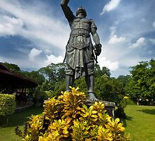 Warrior - Statue in Taman Mini, East Jakarta, Indonesia by Charuhas  Images