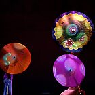 Chinese Umbrella's by Maureen Clark