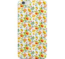 Blue and yellow flowers iPhone Case/Skin