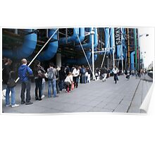 Line-up at the Pompidou Centre, Paris Poster