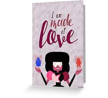 Made of Love - Garnet Greeting Card
