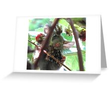 Mouse Eating a Blackberry Greeting Card