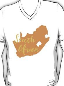 South Africa map in orange fancy T-Shirt