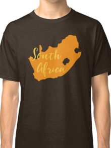 South Africa map in orange fancy Classic T-Shirt