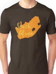South Africa map in orange fancy Unisex T-Shirt