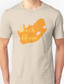 South Africa map in orange fancy T-Shirt