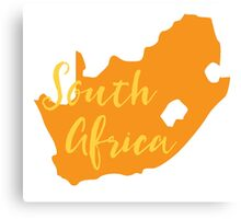 South Africa map in orange fancy Canvas Print