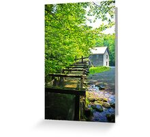 Water going to work at the mill. Greeting Card