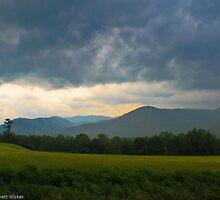 Storm in the Smokey Mountains  by Brett Wicker