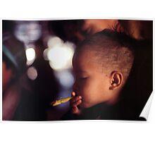 Tribal girl smoking  Poster