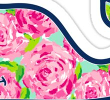 Whale with Roses Sticker