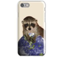 Earth Day Raccoon iPhone Case/Skin