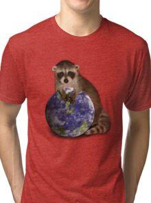 Earth Day Raccoon Tri-blend T-Shirt
