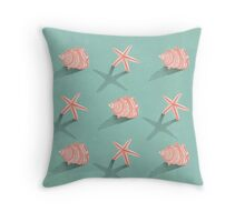 Conch & Starfish Throw Pillow