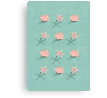 Conch & Starfish Canvas Print