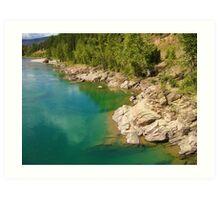 Glacier Lake Art Print