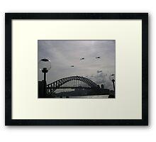 Black Hawk Helicopters, Sydney Harbour Bridge Framed Print