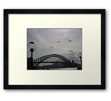 Black Hawk Helicopters, Sydney Harbour Bridge Framed Print