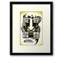 Avatar the Last Airbender Elements Yellow Framed Print