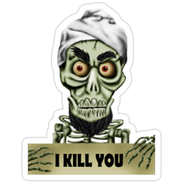 Achmed the dead terrorist stickers by alecampa redbubble for Achmed the dead terrorist halloween decoration