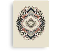 Radial Typography  Canvas Print
