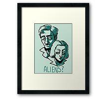 Aliens? Framed Print