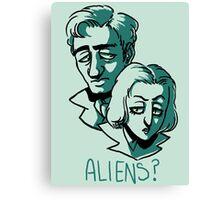 Aliens? Canvas Print