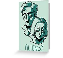 Aliens? Greeting Card