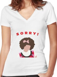 Sorry! Gilly Women's Fitted V-Neck T-Shirt