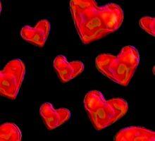 Black Hearts Motif Sticker