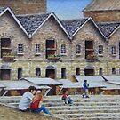 Lunch Break- Harbourside by Fiona  Lee
