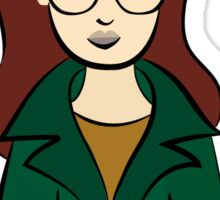 Daria, the Original Hipster Sticker