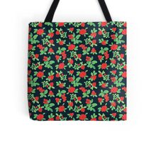 Lingonberry (on Navy) Tote Bag
