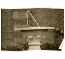 Horizontal Sundial | Old Westbury, New York Poster