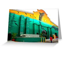 Painted Facade  Greeting Card