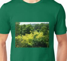 Bushes with Yellow Leaves - Hyde Hall Unisex T-Shirt