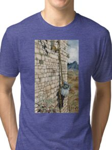 Watercolor Tribute to Arthur Rackham's Rapunzel Tri-blend T-Shirt
