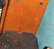 Mobile Phone. Old railway phone & lantern. by pollyrose
