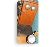 Mobile Phone. Old railway phone & lantern. Canvas Print