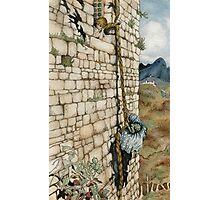 Watercolor Tribute to Arthur Rackham's Rapunzel Photographic Print