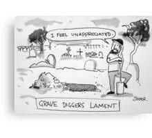 grave digger Canvas Print